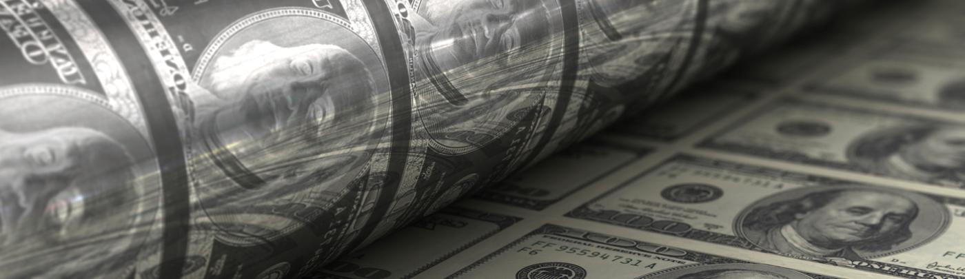Quantitative-easing-printing